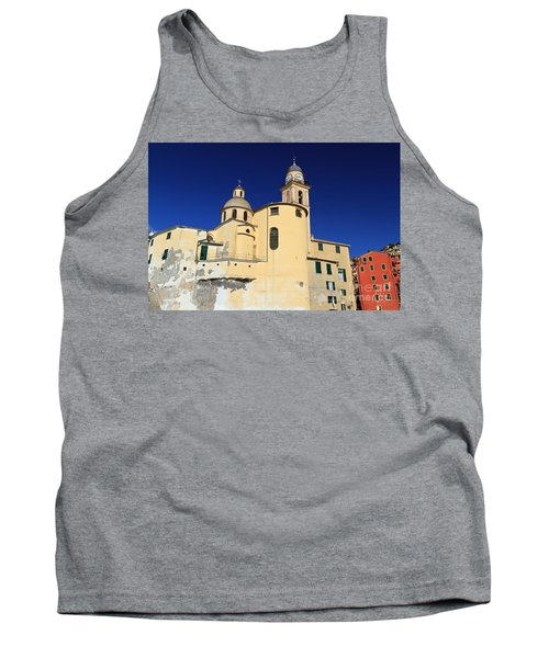 Tank Top featuring the photograph Church In Camogli by Antonio Scarpi