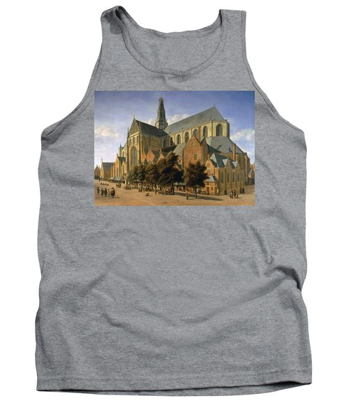 Church Of St. Bavo In Haarlem, 1666 Oil On Panel Tank Top