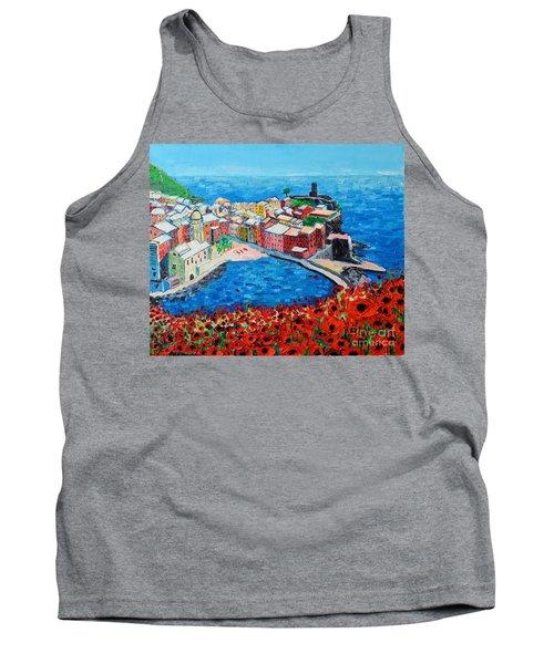 Cinque Terre Vernazza Poppies Tank Top