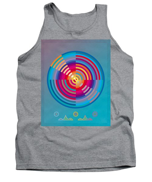 Tank Top featuring the painting Circles by David Klaboe
