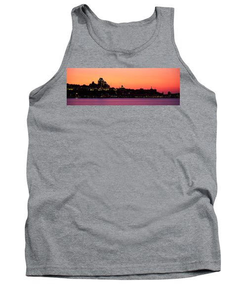 City At Dusk, Chateau Frontenac Hotel Tank Top