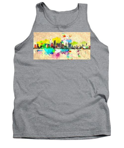 City Of Miami Grunge Tank Top