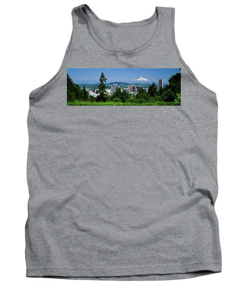 City With Mt. Hood In The Background Tank Top