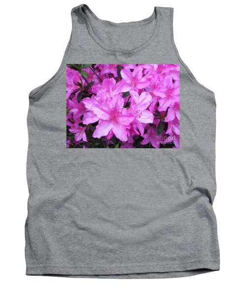 Tank Top featuring the photograph Azaleas by Donna Dixon