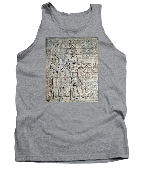 Tank Top featuring the painting Cleopatra And Caesarion by Leena Pekkalainen