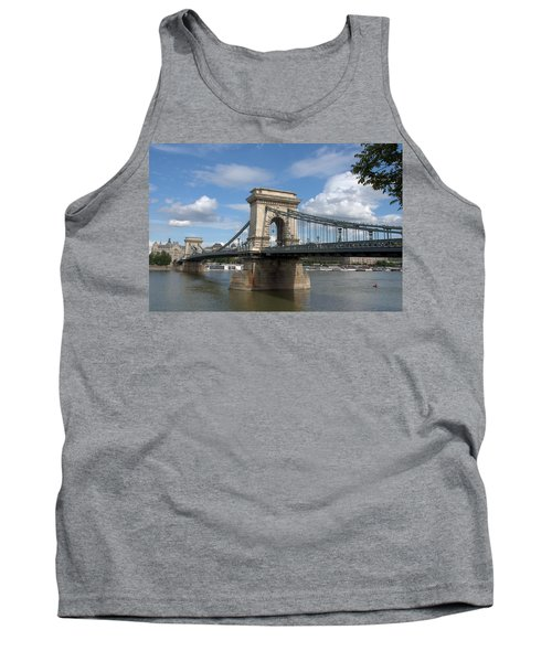 Tank Top featuring the photograph Clouds Sky Water And Bridge by Caroline Stella