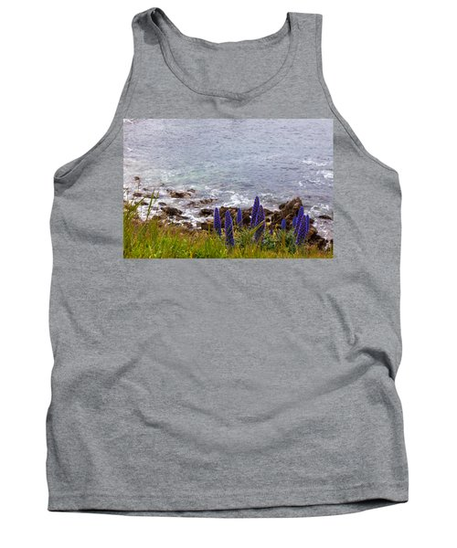Coastal Cliff Flowers Tank Top by Melinda Ledsome
