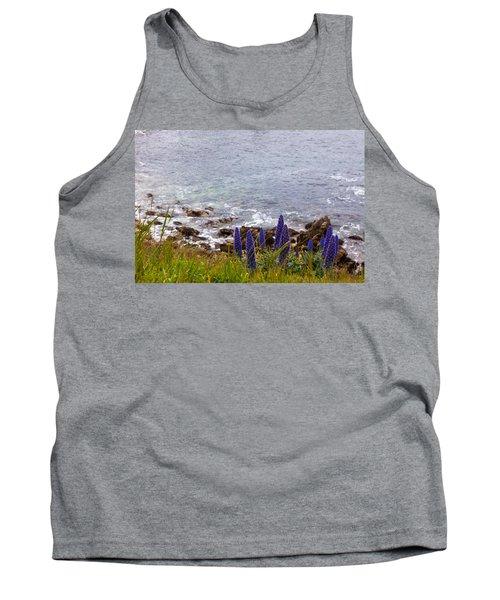 Coastal Cliff Flowers Tank Top