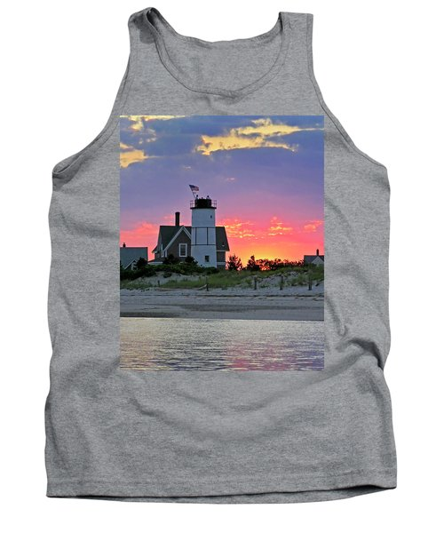 Cocktail Hour At Sandy Neck Lighthouse Tank Top