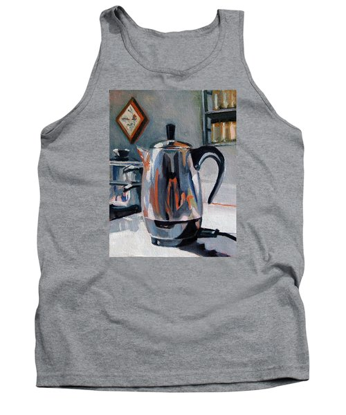 Tank Top featuring the painting Coffeepot by Pattie Wall