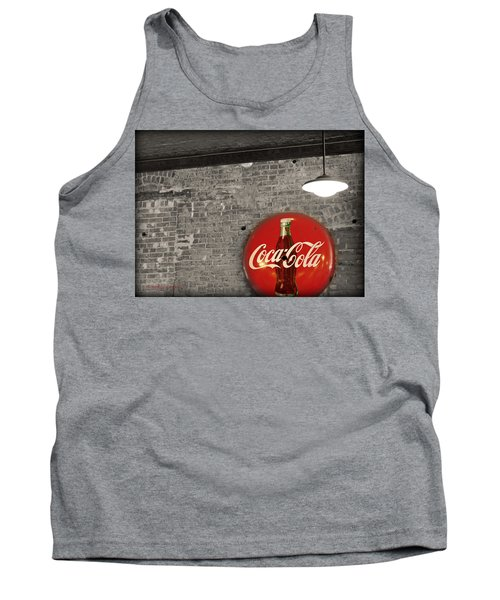 Coke Cola Sign Tank Top by Paulette B Wright