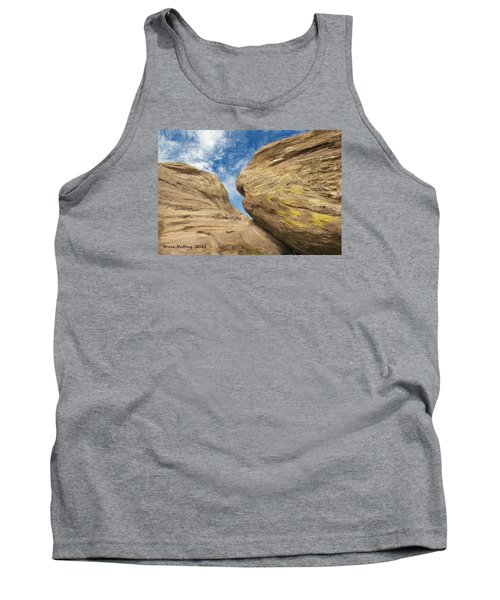 Tank Top featuring the painting Colby's Cliff by Bruce Nutting