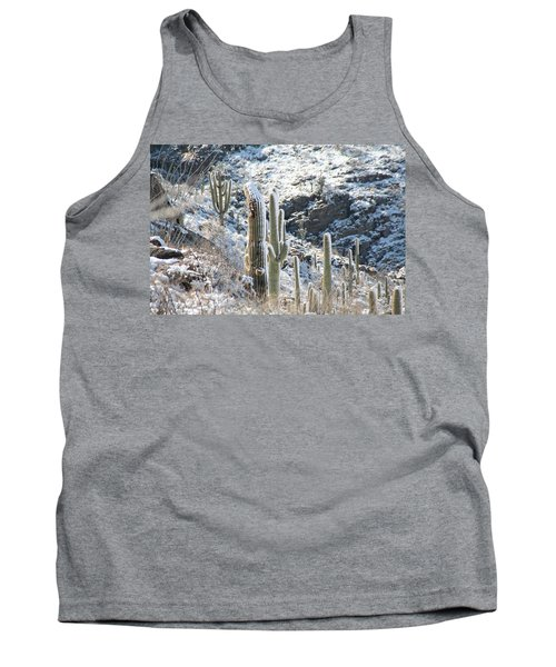 Cold Saguaros Tank Top by David S Reynolds
