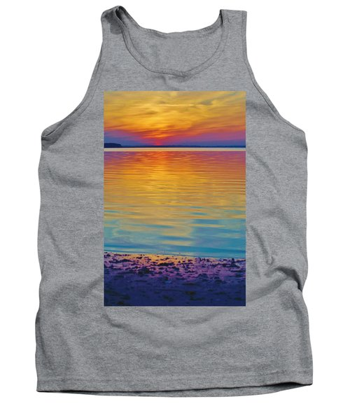 Colorful Lowtide Sunset Tank Top
