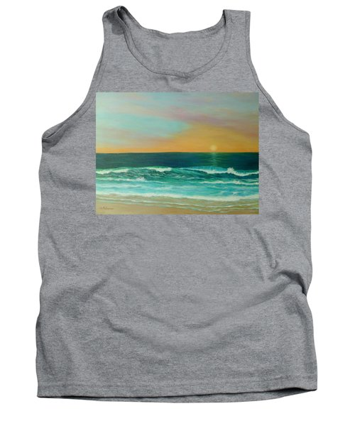 Colorful Sunset Beach Paintings Tank Top