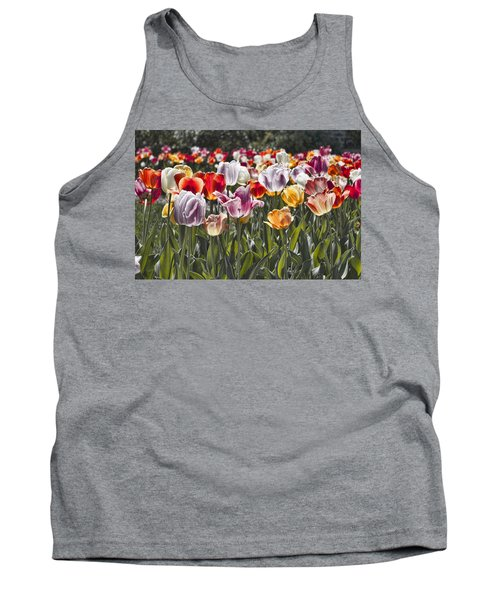 Colorful Tulips In The Sun Tank Top