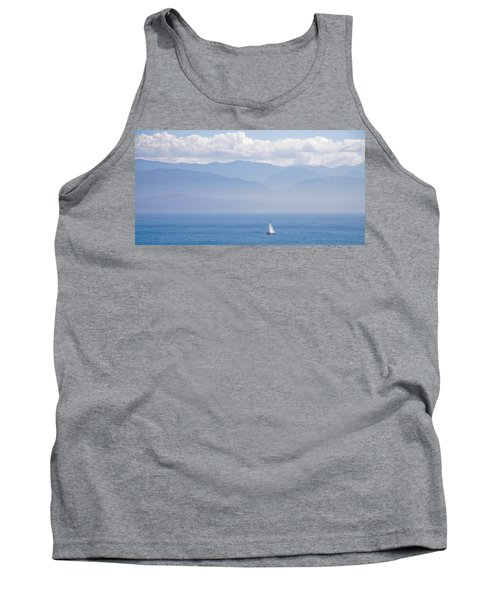Colors Of Alaska - Sailboat And Blue Tank Top