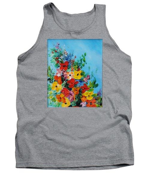 Colour Of Spring Tank Top by Teresa Wegrzyn