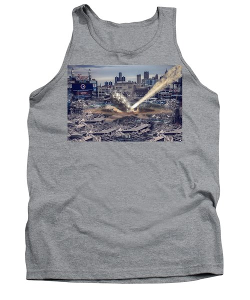 Tank Top featuring the photograph Comerica Park Asteroid by Nicholas  Grunas
