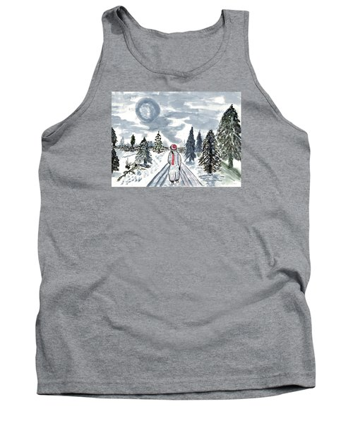 Tank Top featuring the painting Coming Home by Connie Valasco