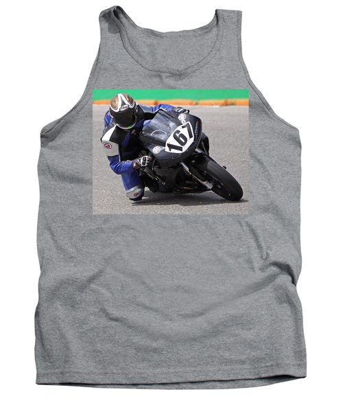 Tank Top featuring the pyrography Coming Into The Curve by Shoal Hollingsworth
