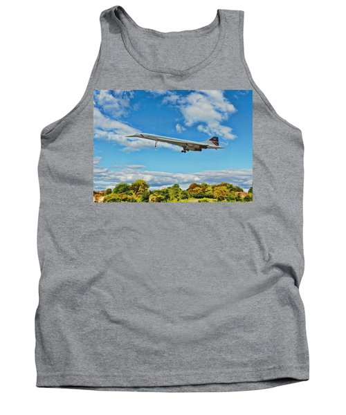 Concorde On Finals Tank Top by Paul Gulliver