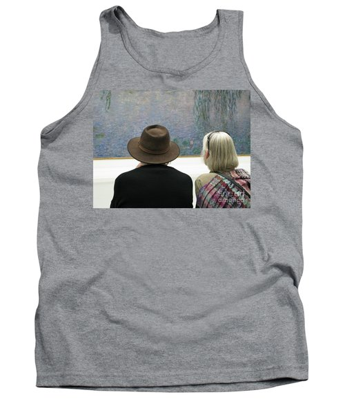 Tank Top featuring the photograph Contemplating Art by Ann Horn