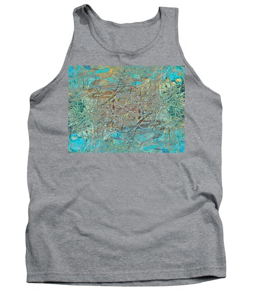 Tank Top featuring the photograph Cool Blue Tangle by Stephanie Grant