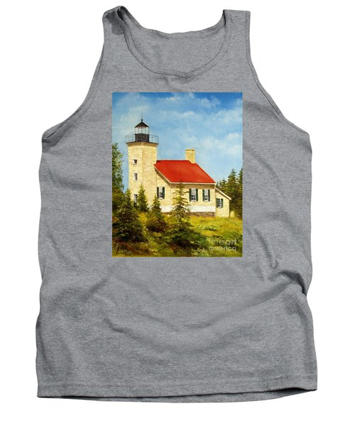 Copper Harbor Lighthouse Tank Top by Lee Piper