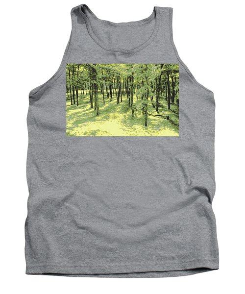 Tank Top featuring the photograph Copse Of Trees Sunlight by Tom Wurl