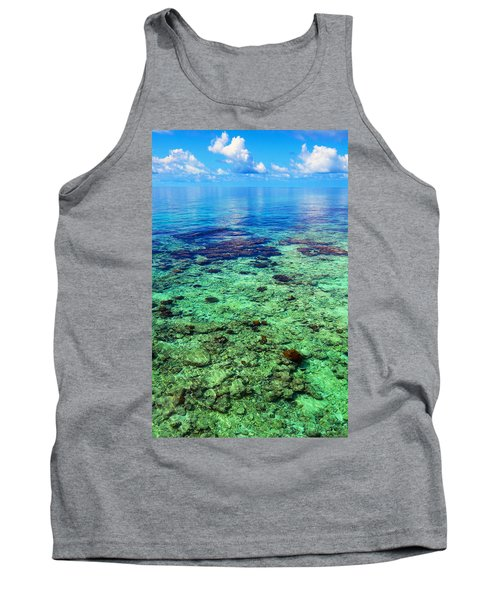 Coral Reef Near The Island At Peaceful Day. Maldives Tank Top