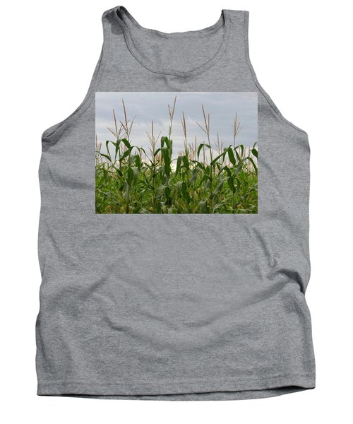 Tank Top featuring the photograph Corn Field by Laurel Powell