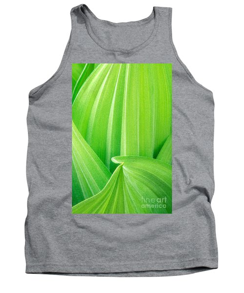 Tank Top featuring the photograph Corn Lily Leaf Detail Yosemite Np California by Dave Welling