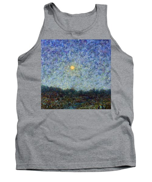 Tank Top featuring the painting Cornbread Moon - Square by James W Johnson