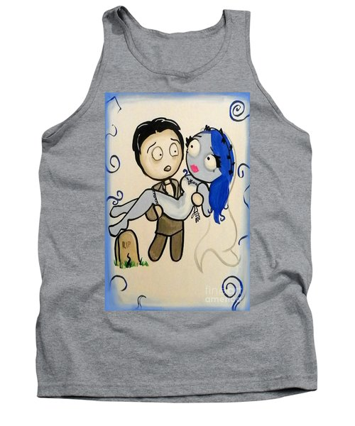 Tank Top featuring the painting Corpse Bride by Marisela Mungia