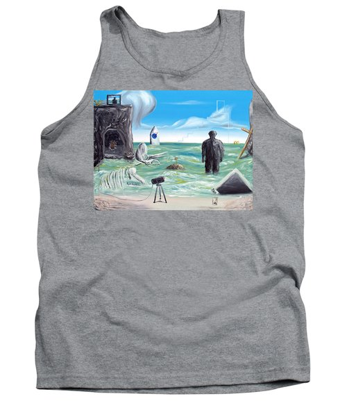 Cosmic Broadcast -last Transmission- Tank Top by Ryan Demaree