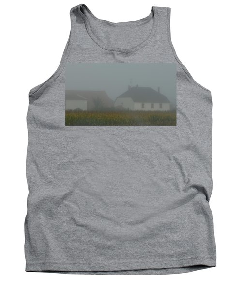 Cottage In Mist Tank Top