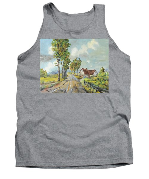 Cottage On Poplar Lane Tank Top