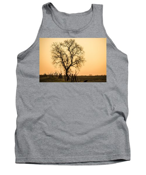 Country Fence Sunset Tank Top