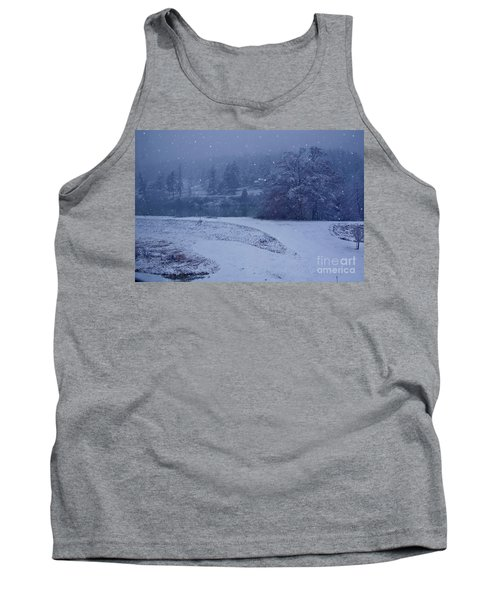 Tank Top featuring the photograph Country Snowstorm Landscape Art Prints by Valerie Garner