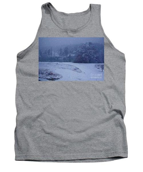 Country Snowstorm Landscape Art Prints Tank Top by Valerie Garner
