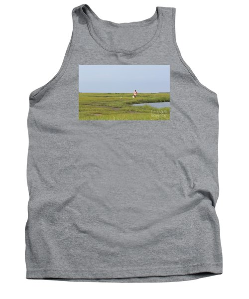 Tank Top featuring the photograph Crabbing At Mystic Island by David Jackson