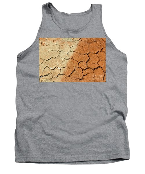 Tank Top featuring the photograph Cracked Soil In Red Shades by Les Palenik
