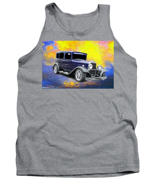 Classic Car Tank Top featuring the photograph Crank It  by Aaron Berg