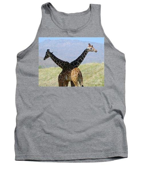 Crossed Giraffes Tank Top