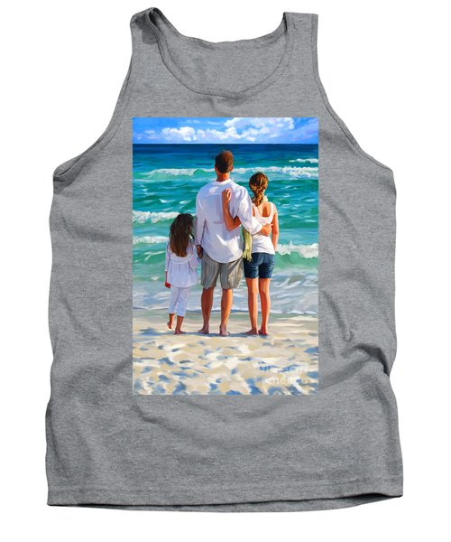 Dad And His Girls Tank Top