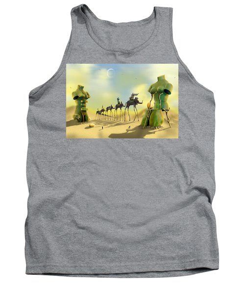 Dali On The Move  Tank Top by Mike McGlothlen