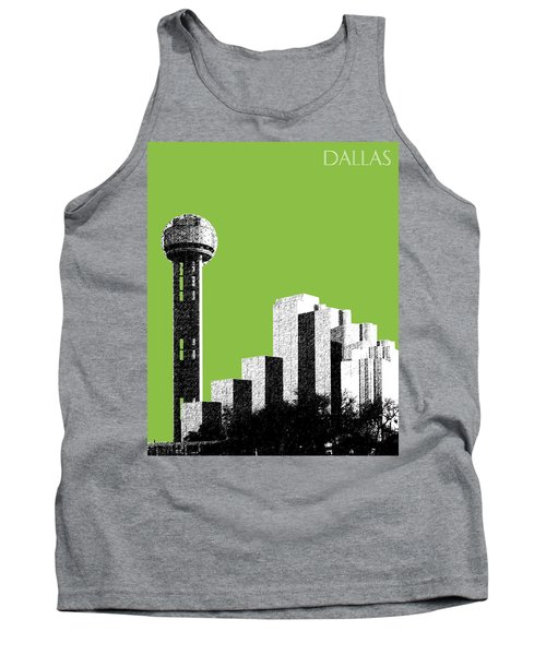Dallas Skyline Reunion Tower - Olive Tank Top