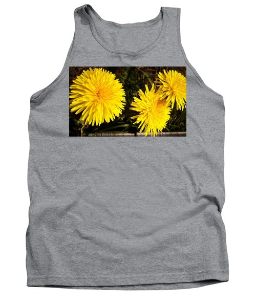 Tank Top featuring the photograph Dandelion Weeds? by Martin Howard