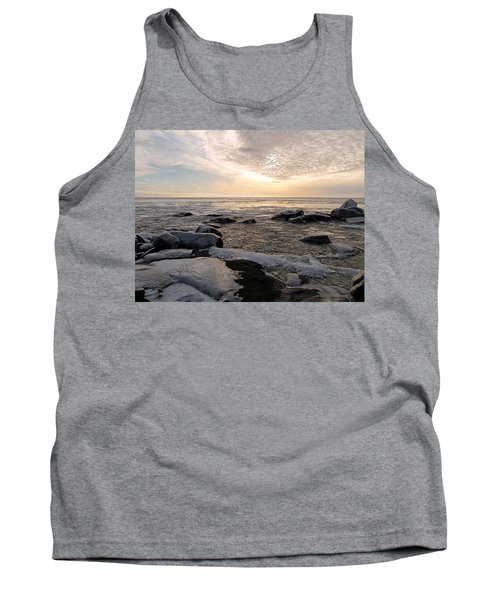 Dazzling Winter On Lake Superior Tank Top by James Peterson